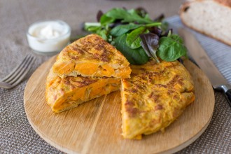Spanish sweet potato omelette