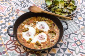broad beans and artichokes casserole