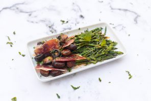 Wild asparagus and iberico ham salad